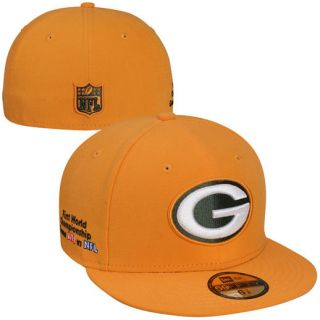 New Era Green Bay Packers Super Bowl I Side Patcher 59FIFTY Fitted Hat   Gold