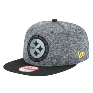 Pittsburgh Steelers New Era NFL Gray Collection Original Fit 9FIFTY Adjustable Hat   Gray/Black