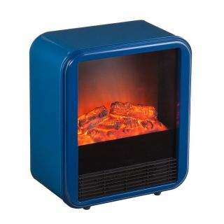 Holly & Martin 16.76 in W 4,400 BTU Navy Metal Infrared Quartz Electric Fireplace