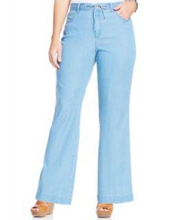 NYDJ Plus Size Temira Wide Leg Jeans, Prime Wash