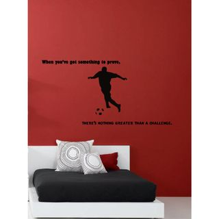 Wall Vinyl Art Home Interior Sticker Quote Phrase About Sport Football