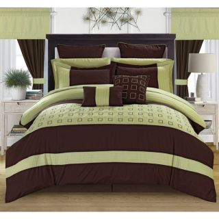 Chic Home Hubert Green 25 piece Bed in a Bag with Sheet Set   17744051