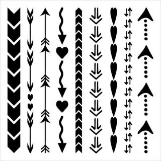 Crafters Workshop Templates 12 X12   Arrows And Hearts   15686433
