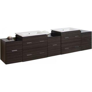 90 in. W x 18 in. D Plywood Melamine Vanity Set In Dawn Grey With