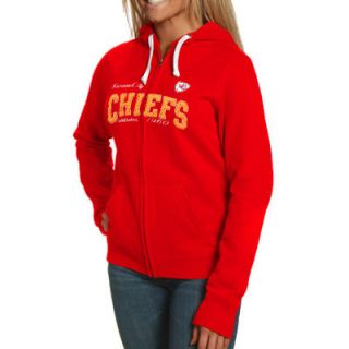 Kansas City Chiefs Ladies Second Round Full Zip Hoodie   Red