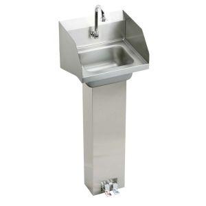 Elkay CHSP1716LRSC Universal Stainless Steel  Pedestals Single Bowl Bathroom Sinks