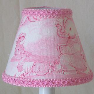 Silly Bear Lighting 5 Kellys Toile Fabric Empire Candelabra Shade