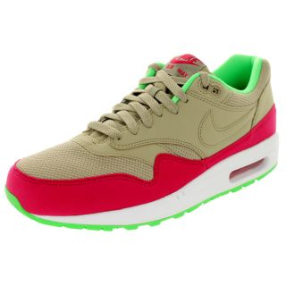 Nike Mens Air Max 1 Essential Bamboo/Fushia Forcereen Running Shoe