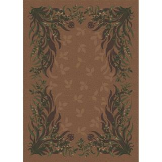 Milliken Baskerville Rectangular Brown Transitional Tufted Area Rug (Common: 8 ft x 11 ft; Actual: 7.66 ft x 10.75 ft)