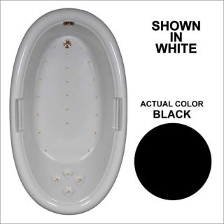 Watertech Whirlpool Baths 71.25 in L x 40.5 in W x 22.25 in H Black Acrylic Oval Drop in Air Bath