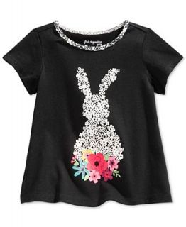 First Impressions Baby Girls Flower Bunny T Shirt