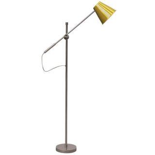 Ren Wil LPF3007 York 1 Light Floor Lamp in Polished Steel