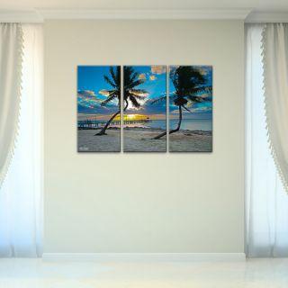 Bruce Bain Sun Set 3 piece Canvas Wall Art   Shopping