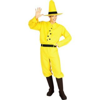 Man in the Yellow Hat Adult Halloween Costume   One Size