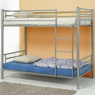 Coaster Furniture 460072 Denley Metal Twin over Twin Bunk Bed in Silver