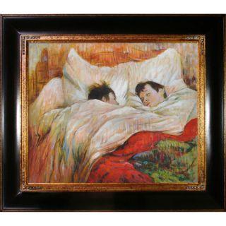 Henri de Toulouse Lautrec The Bed Hand Painted Framed Canvas Art