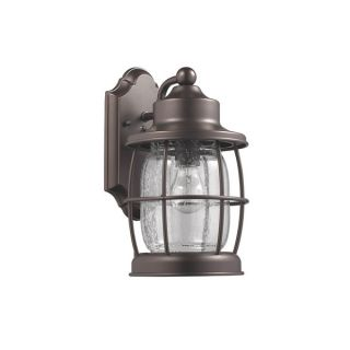 Chloe Transitional 1 light Rubbed Bronze Outdoor Wall Lantern