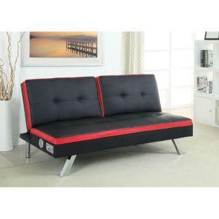 Furniture of America Ascari Split Back Leatherette Futon Sofa with