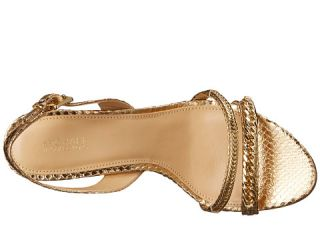 MICHAEL Michael Kors Jackie Mid Sandal Pale Gold Metallic Snake