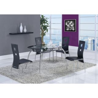 Oval Black Trim Glass Dining Table   16353470   Shopping