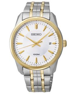 Seiko Watch, Mens Two Tone Stainless Steel Bracelet 39mm SGEG08