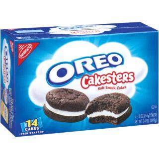 Nabisco Oreo Cakesters Soft Snack Cakes, 2 oz, 7 count