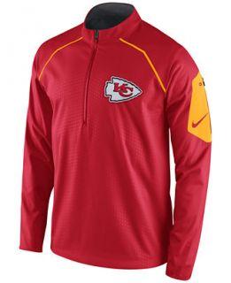 Nike Mens Kansas City Chiefs Alpha Fly Rush Quarter Zip Jacket