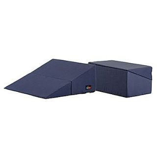 Nova Medical Products 12 x 23.5 Polyester & Cotton Folding Bed Wedge, Blue
