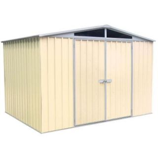 ABSCO 10 ft. x 7 ft. DayLite Classic Cream Garden Shed DISCONTINUED CC30222DK