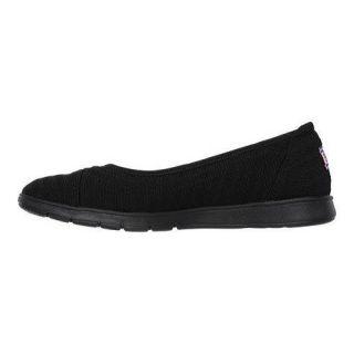 Womens Skechers BOBS Pureflex Supastar Flat Black   17833264