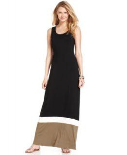 Karen Kane Sleeveless Colorblocked Maxi Dress