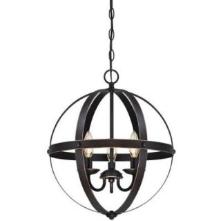Westinghouse Stella Mira 3 Light Oil Rubbed Bronze with Highlights Pendant 6341800