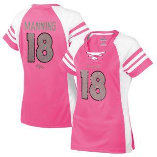 Majestic Peyton Manning Denver Broncos Womens Pink Draft Him IV T Shirt