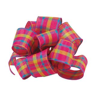 Oddity 2 Pack 2.5 in Multicolor Plaid Ribbon