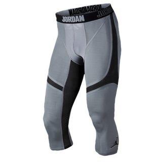 Jordan AJ Stay Cool Compression 3/4 Tights   Mens   Basketball   Clothing   White/Cool Grey/Cool Grey