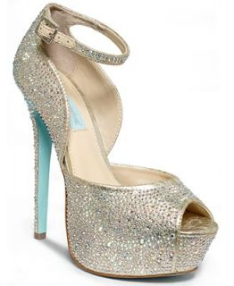 Blue by Betsey Johnson Kiss Platform Evening Sandals   Shoes