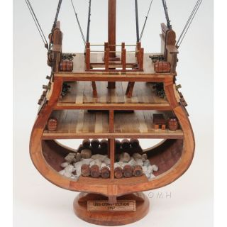 Old Modern Handicrafts USS Constitution Cross Section Model Boat