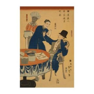 Banquet at A Foreign Mercantile House in Yokohama (Yokohama Ijin Sho?Ka Shuen No Zu) Print (Unframed Paper Print 20x30