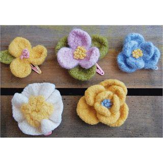 Pick Up Sticks! Knit Felting Patterns, Doll, Up Flowers