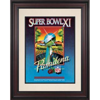 Authentic 1977 Raiders vs. Vikings Framed 10.5 x 14 Super Bowl XI Program