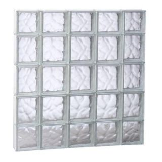 Clearly Secure 34.75 in. x 34.75 in. x 3.125 in. Non Vented Wave Pattern Glass Block Window 3636SDC