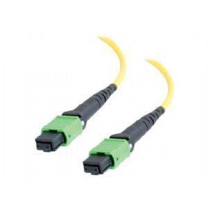 C2G 50m MTP 9/125 OS1 Single Mode Fiber Optic Assembly Ribbon Cable   Low Smoke Zero Halogen LSZH   Yellow   Network cable   MTP single mode (F)   MTP single mode (F)   164 ft   fiber optic   9 / 125