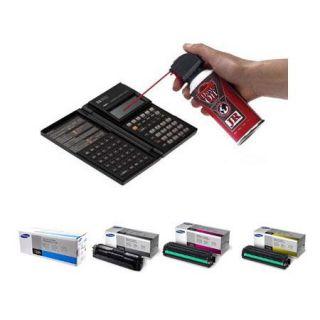Samsung CLT 504S Bundle w/Toner Cartridge Set of Y/M/C/Black+Falcon Dust Off Jr SSKCLT504S