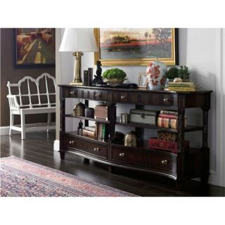 Stanley Furniture 302 15 30 Charleston Regency Serpentine Entertainment Console in Classic Mahogany