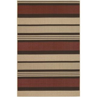 Five Seasons Santa Barbara/Red Natural 92 x 12 Rug