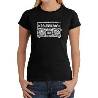 Los Angeles Pop Art Womens Boom Box Shirt   12067979