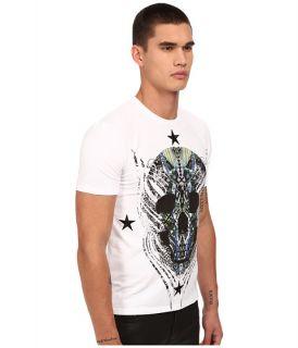 Just Cavalli Modern Deco Skull Print Tee w/ Stars