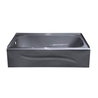 Style Selections Silver Metallic Acrylic Rectangular Skirted Bathtub with Left Hand Drain (Common: 30 in x 60 in; Actual: 16 in x 30 in x 59.875 in)