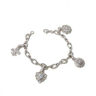 Victoria Wieck Absolute™ 2.07ctw Multicut 4 Charm Sterling Silver Bracele   7953151
