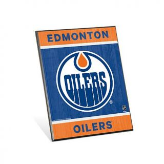 "NHL Team Logo 8"" x 10 3/4"" Easel Back Sign   Edmonton Oilers   7808842"
